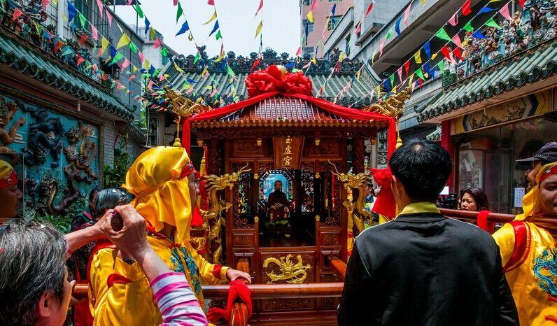 每年的农历三月初三是北帝诞日,汉族民间庆贺活动规模盛大 图片来源:光明网